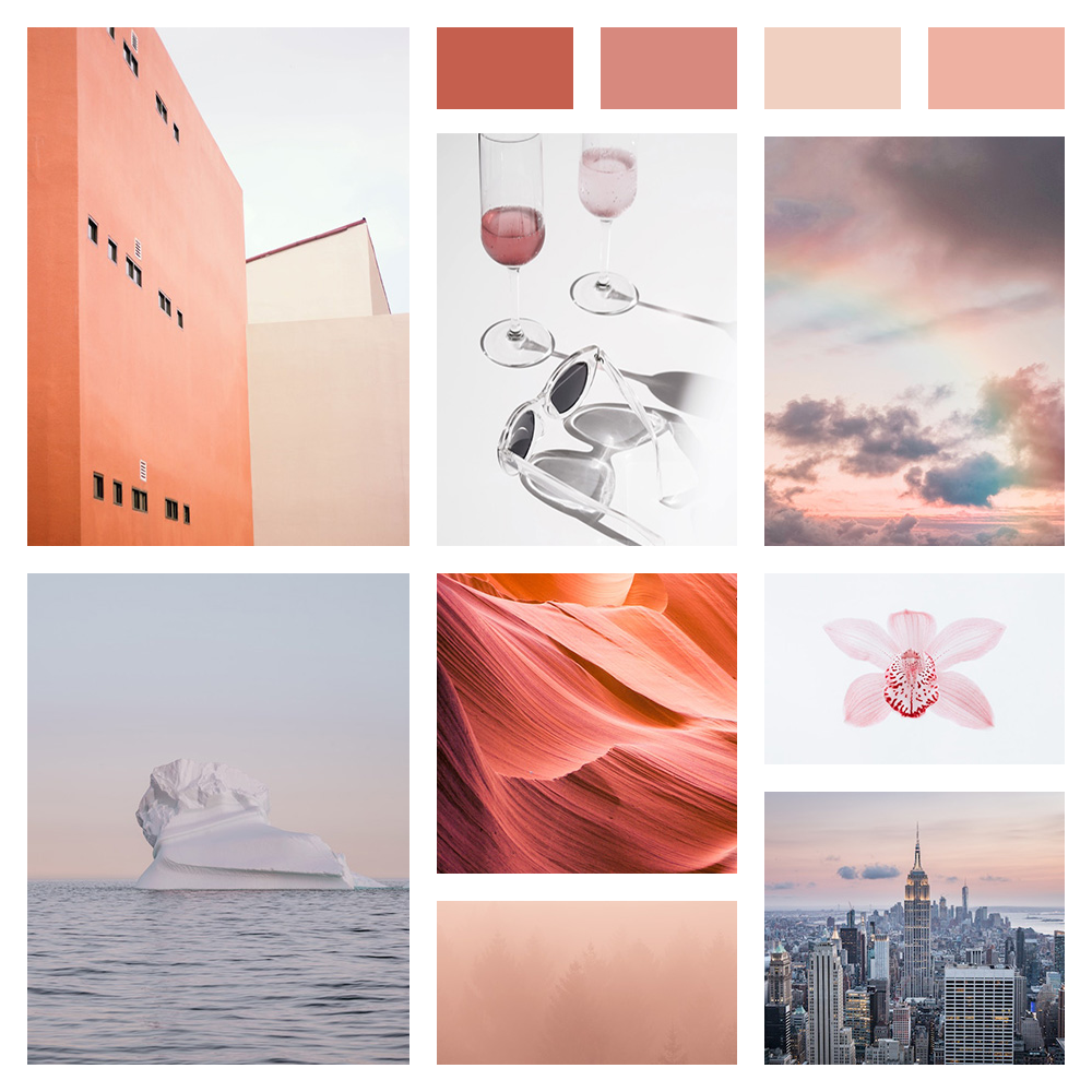 Soft pink mood board