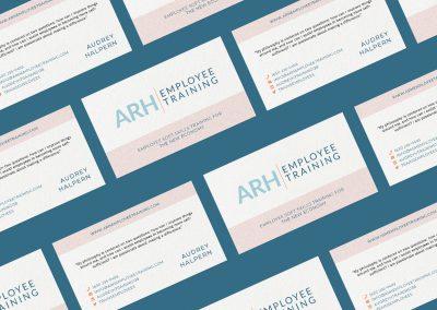 Business card design for ARH Employee Training