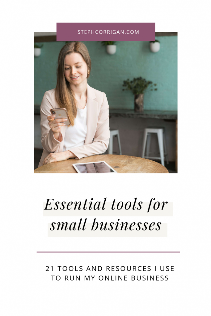 Essential small business tools and resources pin