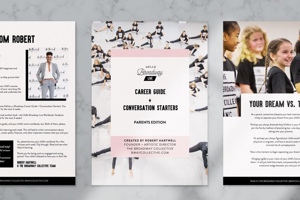 Broadway Collective workbook design mockup