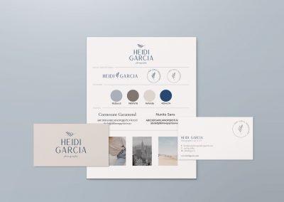 Heidi Garcia brand identity design