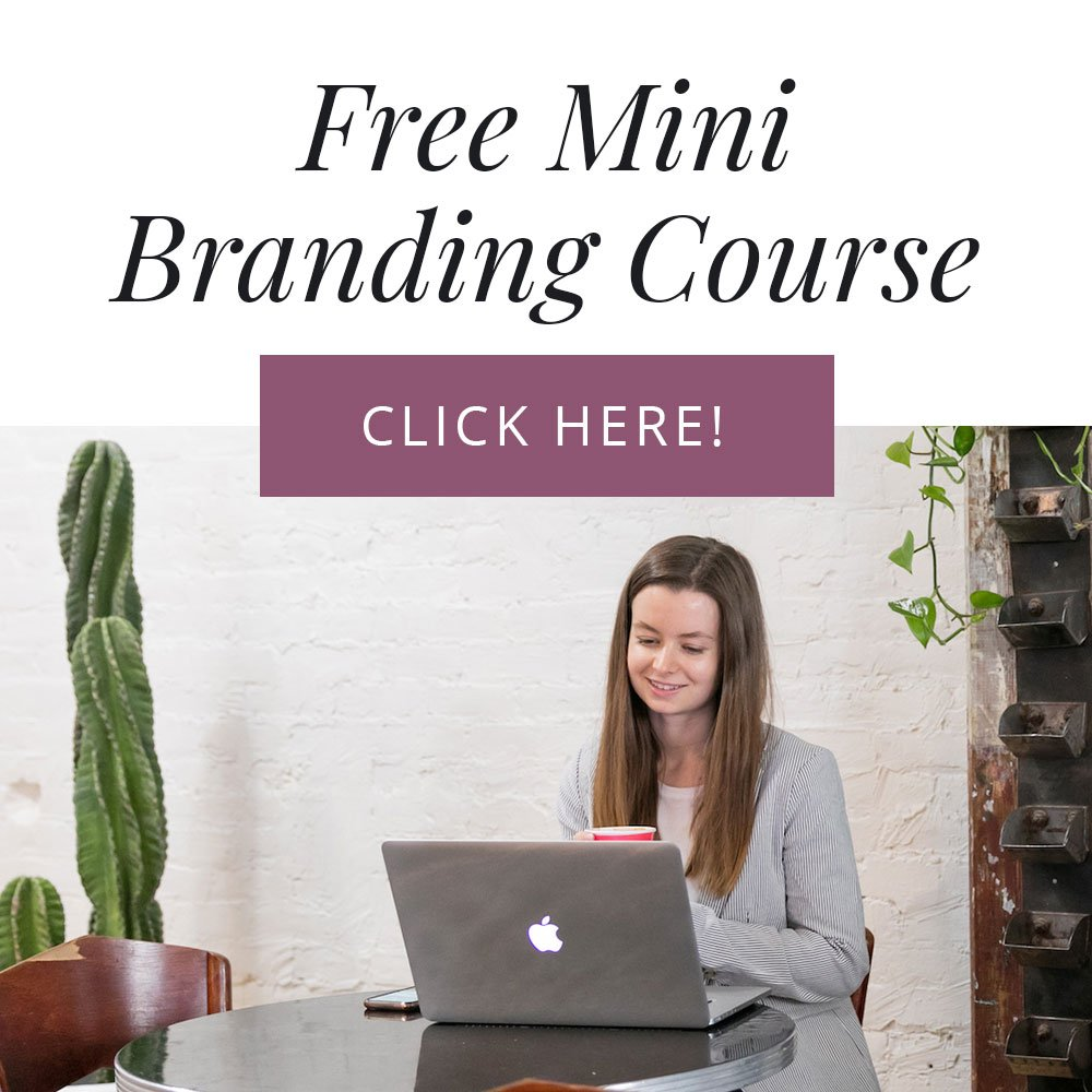 Click to sign up for my free mini branding course