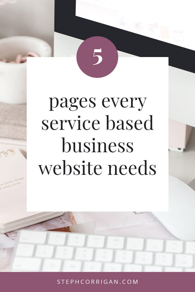 5 pages every service based business website needs