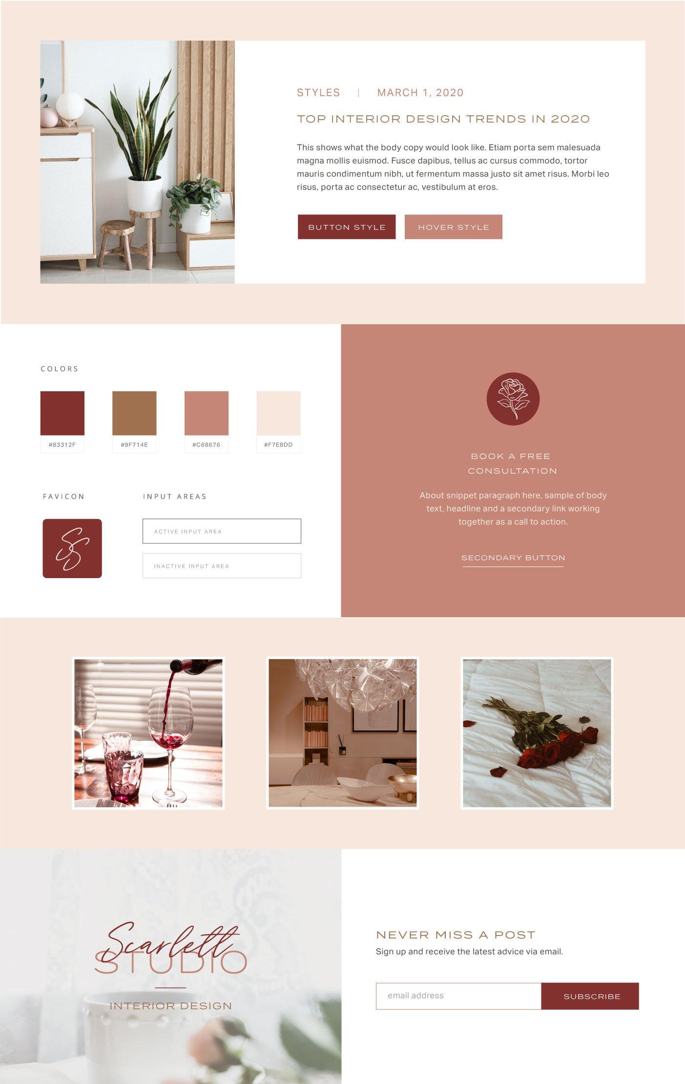 Scarlett Studio web style guide