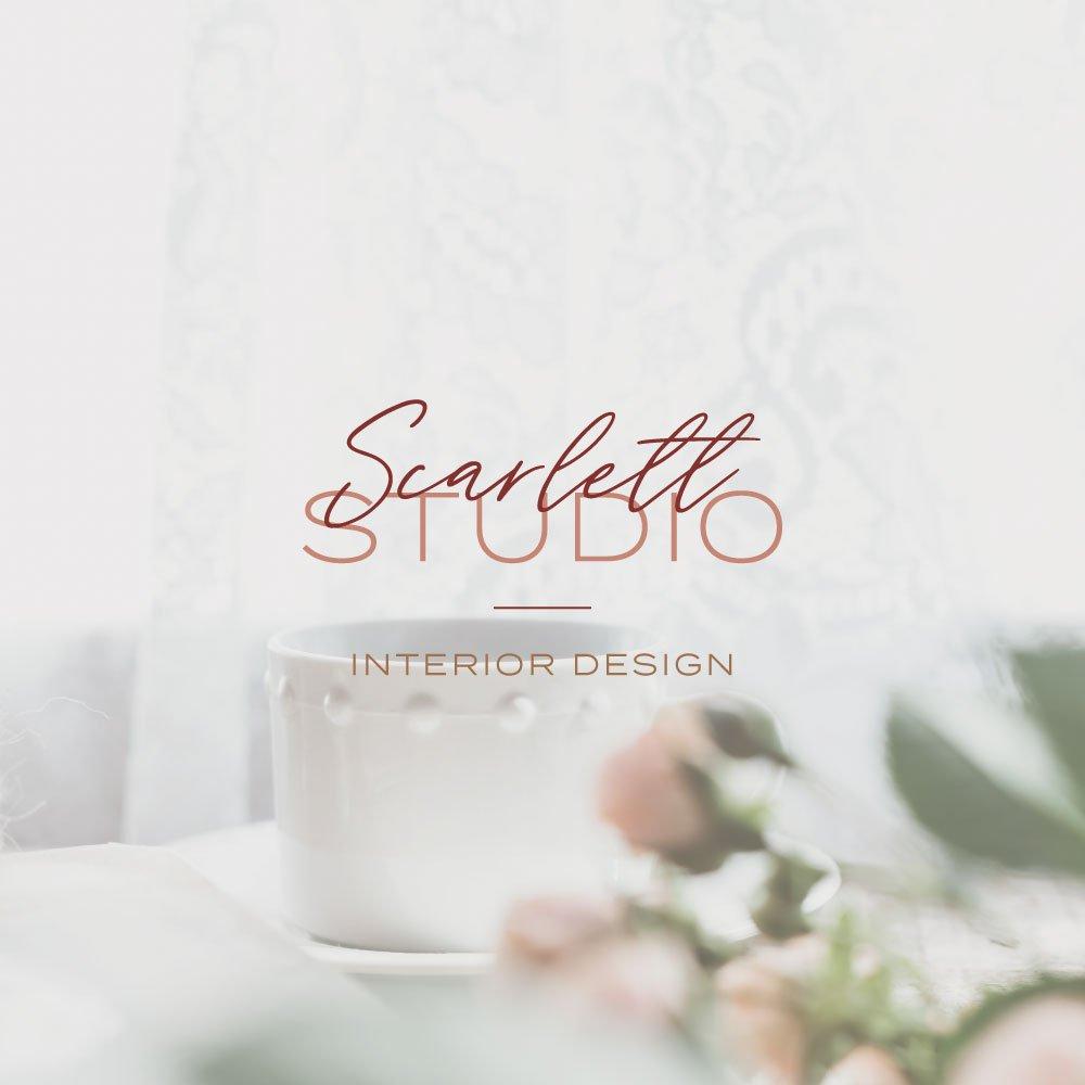 Scarlett Studio logo design