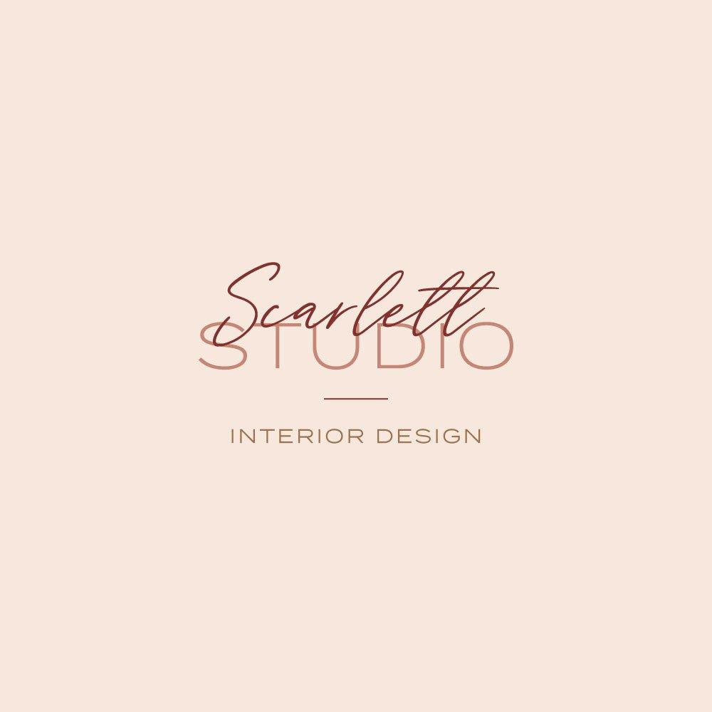 Scarlett Studio primary logo design