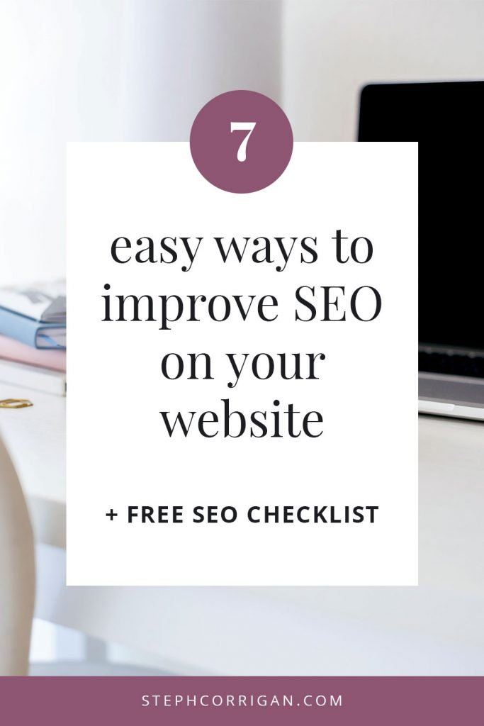 7 easy ways to improve SEO on your website