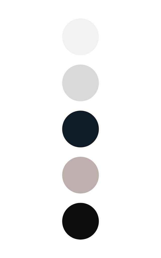 Sophisticated color palette with high contrast