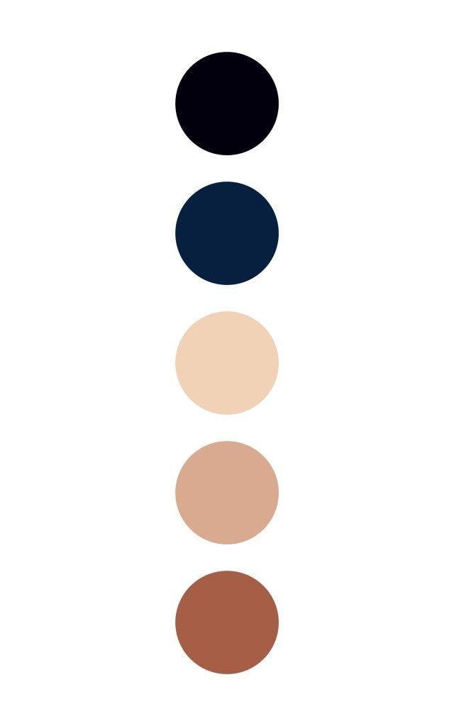 Blue and beige color palette