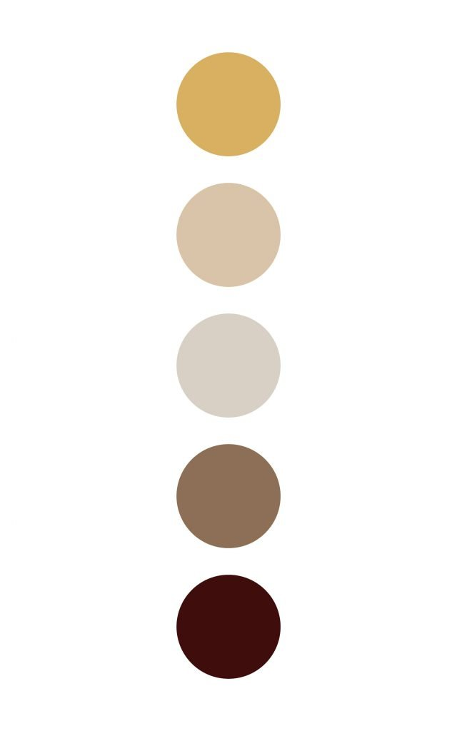 Gold and brown color palette