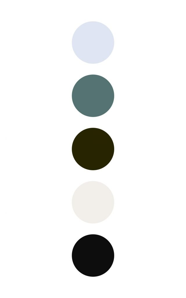 High contrast color palette for upscale brands