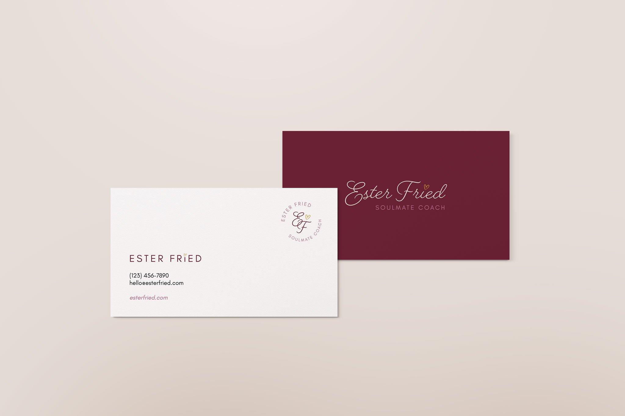Ester Fried business card mockup