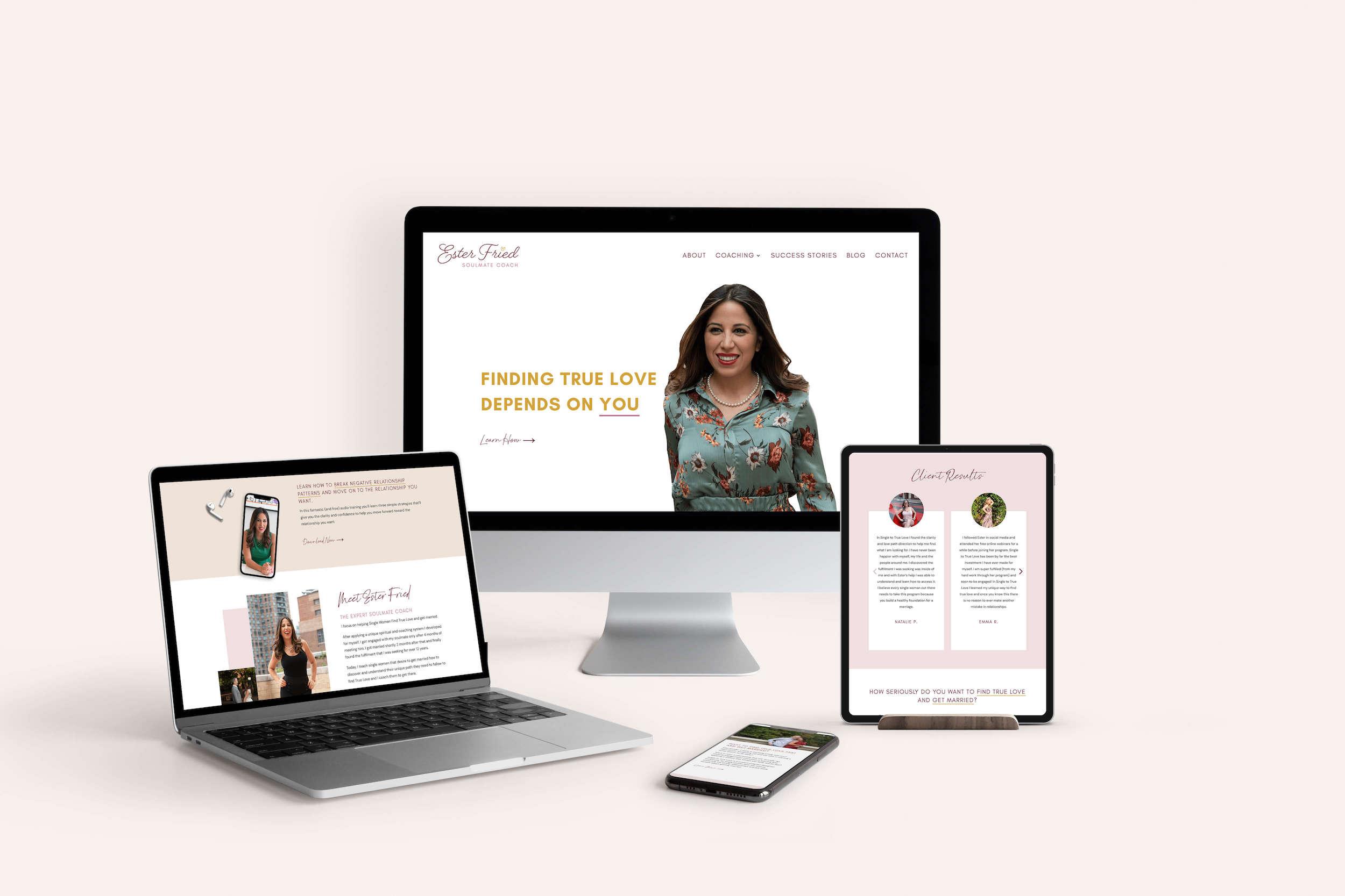 Responsive web design for Ester Fried