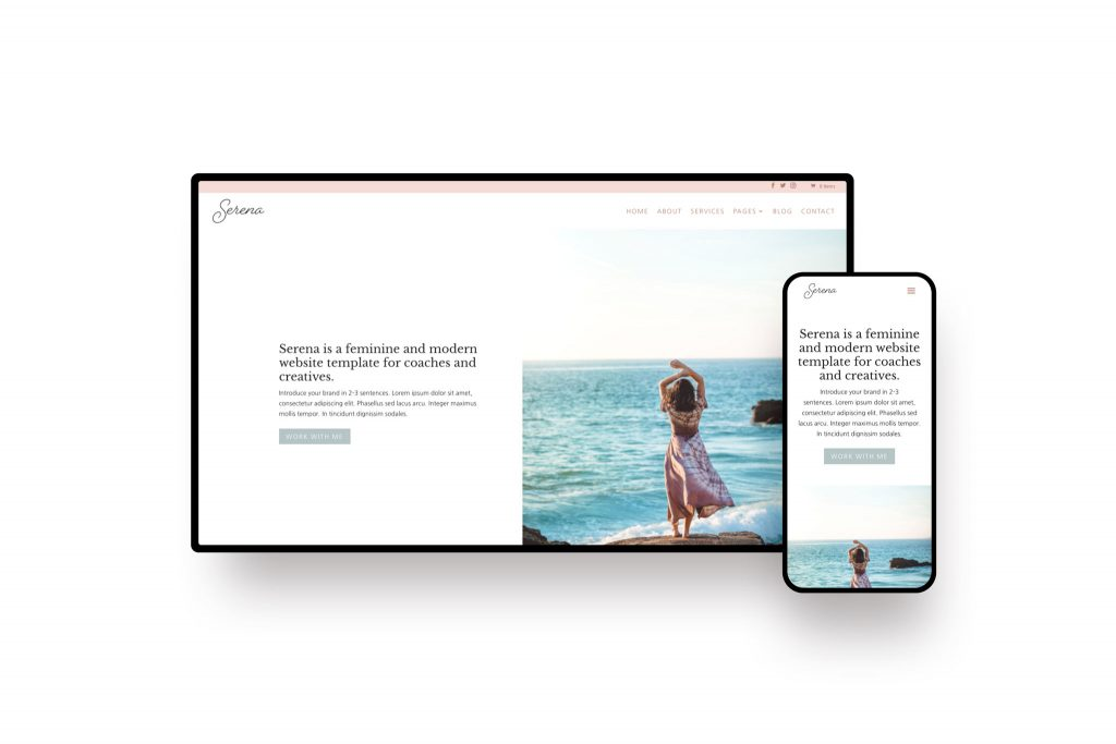 Feminine Divi child theme and WordPress template