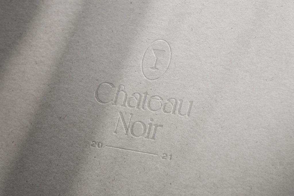 Chateau Noir logo design mockup