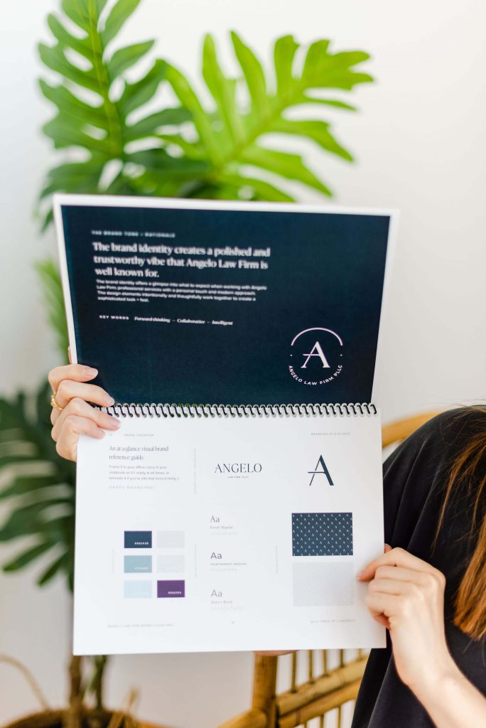 Brand guidelines for Angelo Law Firm