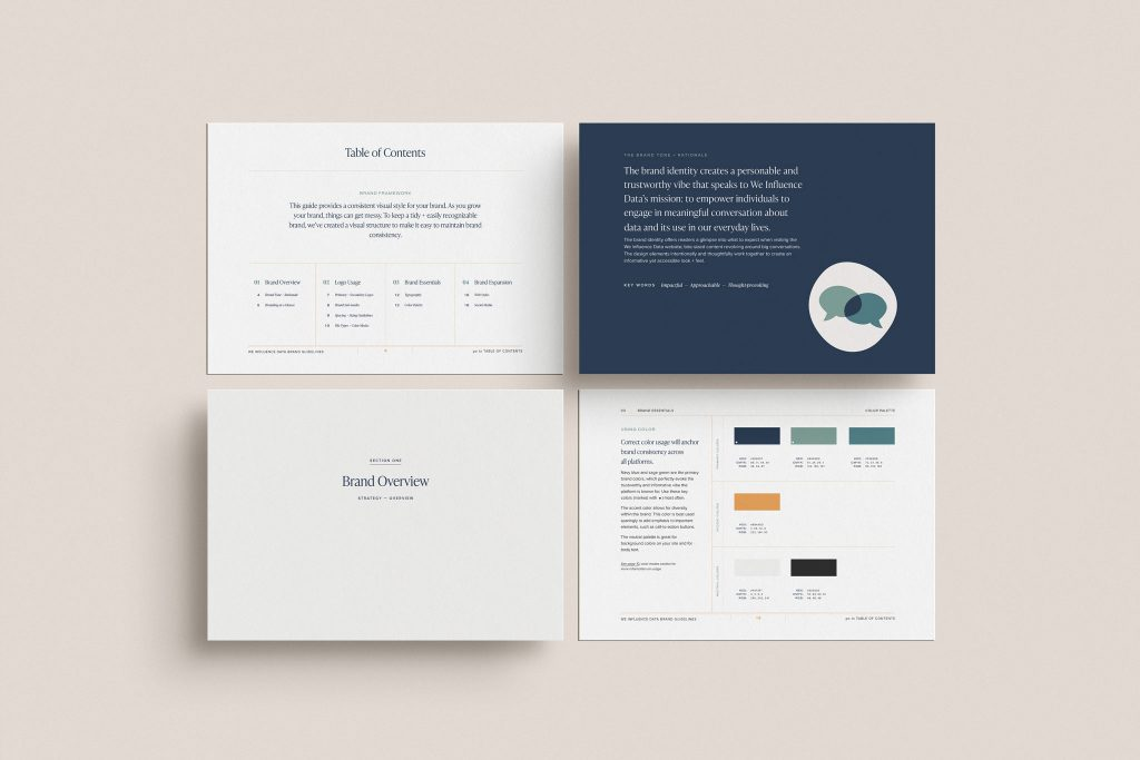 Brand guidelines for We Influence Data