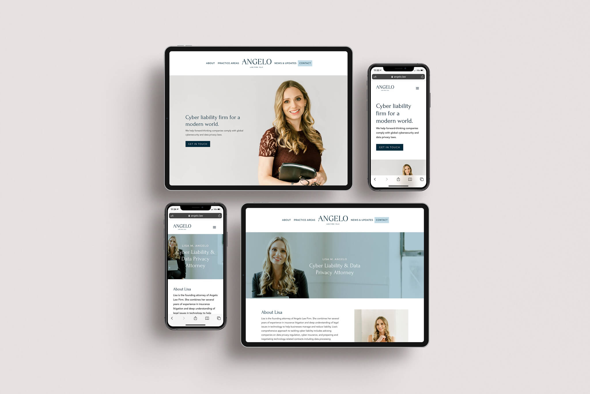 Responsive web design for Angelo Law Firm